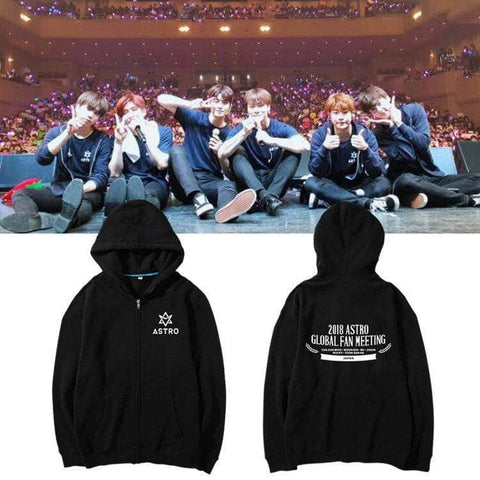 IDOLS FASHION HOODIE ASTRO 2018 JAPAN GLOBAL FAN MEETING ZIP UP HOODIE