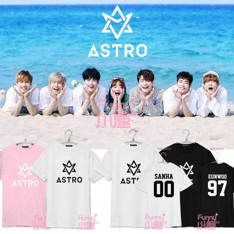 IDOLS FASHION T-SHIRT ASTRO SUMMER VIBES MEMBER T-SHIRTS