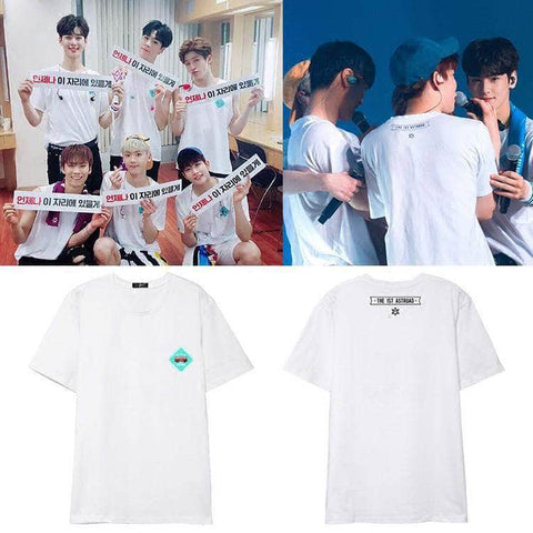 IDOLS FASHION T-SHIRT ASTRO THE 1ST ASTROAD T-SHIRT
