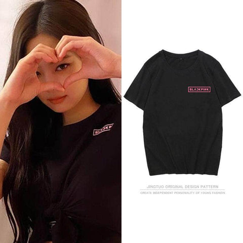 K-pop Fashion BLACKPINK Short Sleeve T-shirt