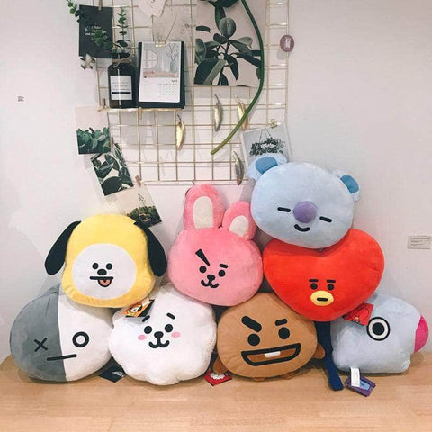 Official Kpop Merchandise Online 🥇 Accessories BT21 Face Pillows