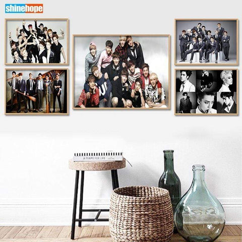 Kpop Merchandise Online Photocards Custom EXO Poster (Multiple Sizes)