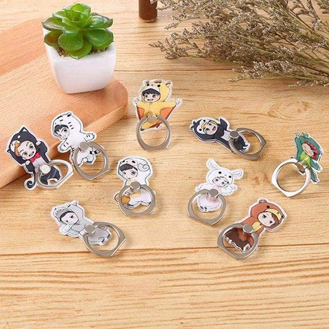 Kpop Merchandise Online Phone Case EXO Animated Cartoon Mobile Rings