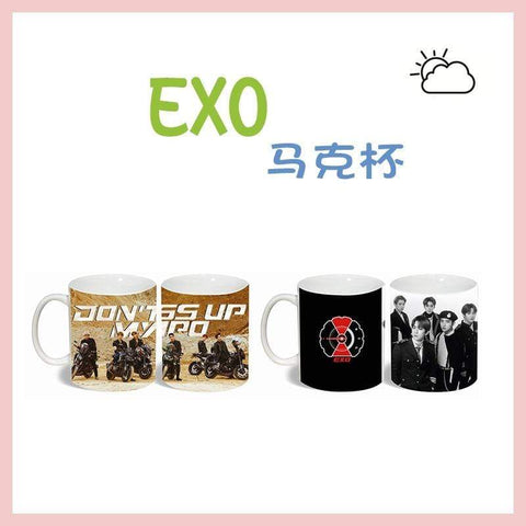 Kpop Merchandise Online Bottle EXO Don't Mess Up My Tempo Ceramic Mug