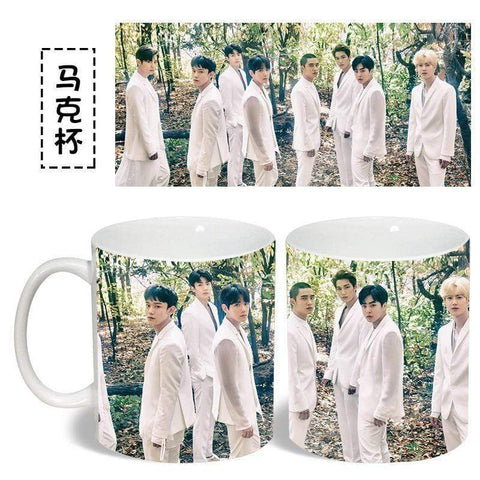 Kpop Merchandise Online Bottle EXO Planet Ceramic Coffee Mug
