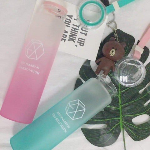 Kpop Merchandise Online Bottle EXO Tempered Glass Bottle