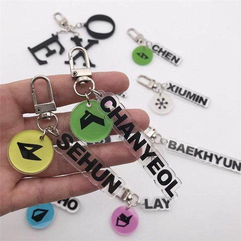 Kpop Merchandise Online Accessories EXO Transparent Keychains With Member Symbol