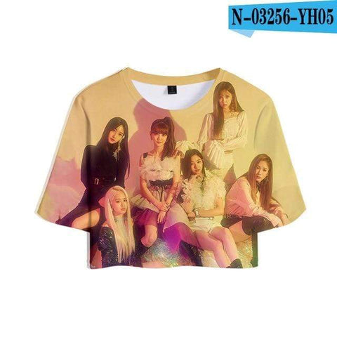 Kpop Merchandise Online Clothing (G)I-DLE Cropped T-Shirt