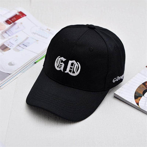 Official Kpop Merchandise Online 🥇 Clothing GDragon Letter Embroidery Hat