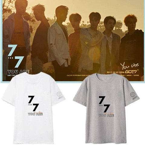 K-pop Fashion GOT7 7FOR7 You Are Official T shirt