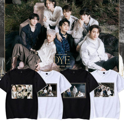 K-pop Fashion GOT7 DYE Character Printed T shirts