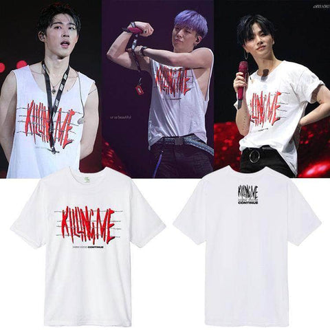 IDOLS FASHION T-SHIRT IKON KILLING ME CONTINUE TOUR T-SHIRT