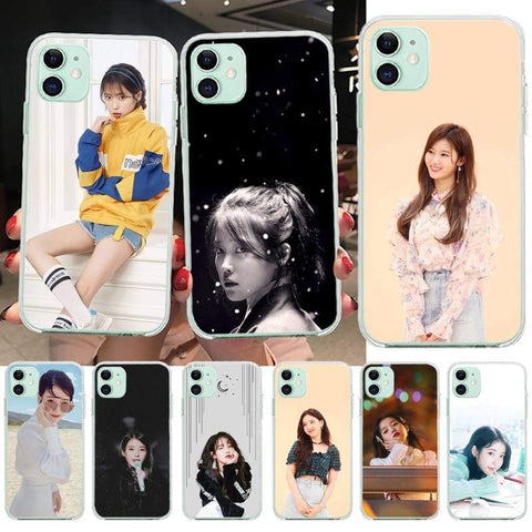 Kpop Merchandise Online Phone Case IU Soft Phone Case Cover for iPhone 11 pro XS MAX 8 7 6 6S Plus X 5S SE XR