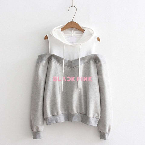 Kpop Merchandise Online Clothing Kpop Stylish Off the Shoulder Jumper