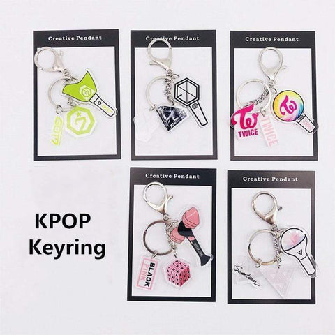 Kpop Merchandise Online Accessories Lightstick Keychain