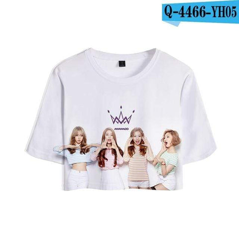 Kpop Merchandise Online Clothing Mamamoo Cropped Top