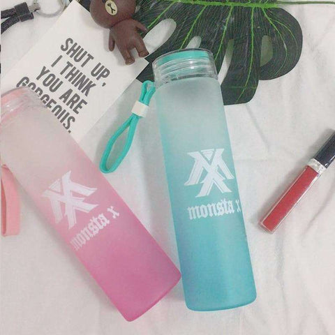 Kpop Merchandise Online Accessories Monsta X Bottle (Teal, Pink or Purple)