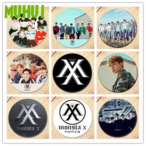 Kpop Merchandise Online Badges MonstaX Buttons