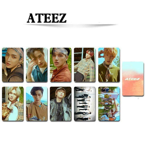 K-pop Fashion OFFICIAL ATEEZ Double sided Small Card