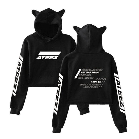 PartyPartyGo OFFICIAL  ATEEZ Fashion Cat Ear Hoodie