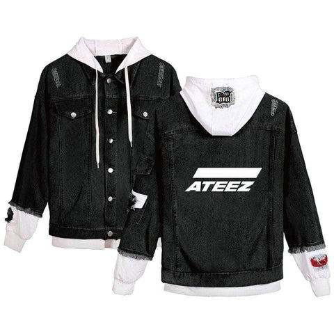 PartyPartyGo OFFICIAL ATEEZ Fashion Denim Jacket