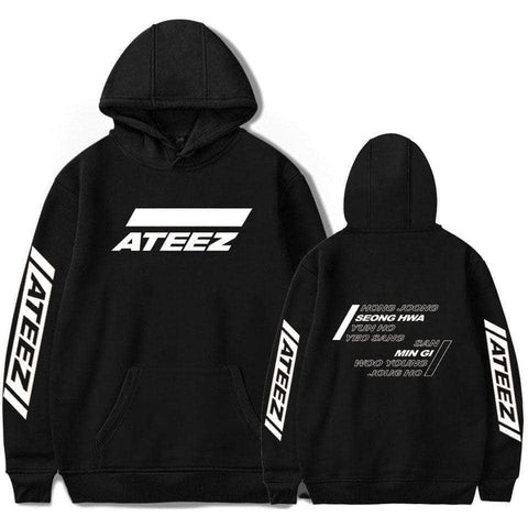 PartyPartyGo OFFICIAL  ATEEZ Member Printed Hoodie