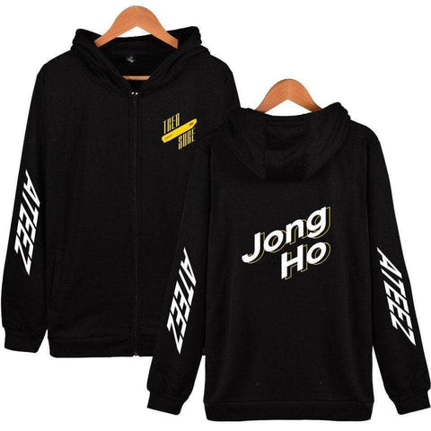 PartyPartyGo OFFICIAL ATEEZ Member Printed Zip Up Hoodie