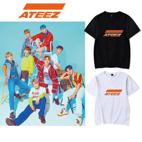 PartyPartyGo OFFICIAL ATEEZ Simple Logo Printing T-shirt