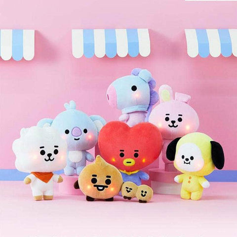 Official Kpop Merchandise Online 🥇 Toys Official BT21 Baby Lighting Plushies
