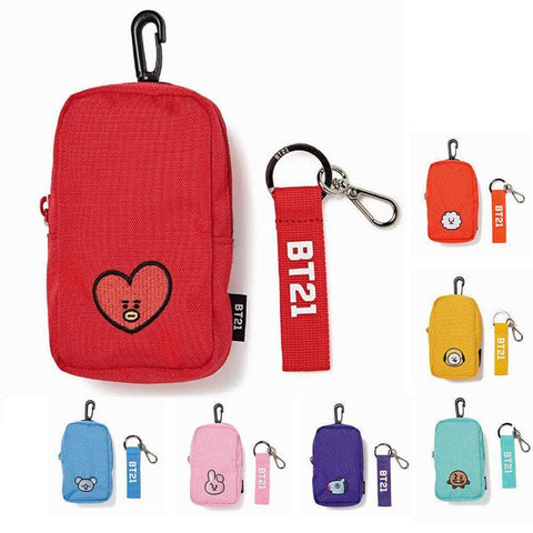 Official Kpop Merchandise Online 🥇 Keyring Official BT21 Carry Bag and Keychain