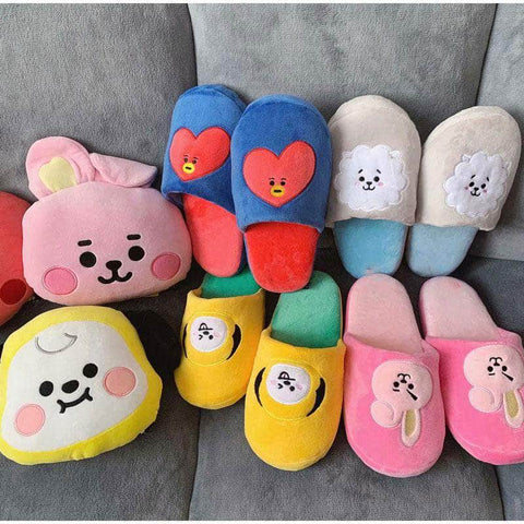 Official Kpop Merchandise Online 🥇 Accessories Official BT21 Soft Slippers