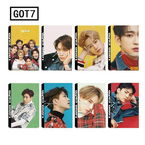K-pop Fashion OFFICIAL GOT7 30 Sheets Eyes On You Lomo Card