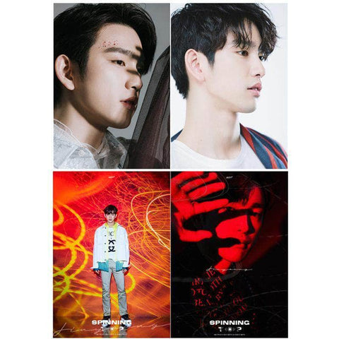 K-pop Fashion OFFICIAL GOT7 JinYoung Peripheral Poster×Card Sticker×Postcard