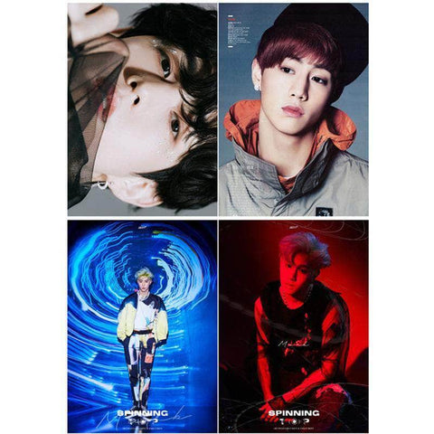 K-pop Fashion OFFICIAL GOT7 Mark Peripheral Poster×Card Sticker×Postcard