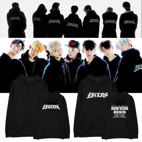 IDOLS FASHION HOODIE OFFICIAL IKON NEW KIDS BEGIN HOODIE
