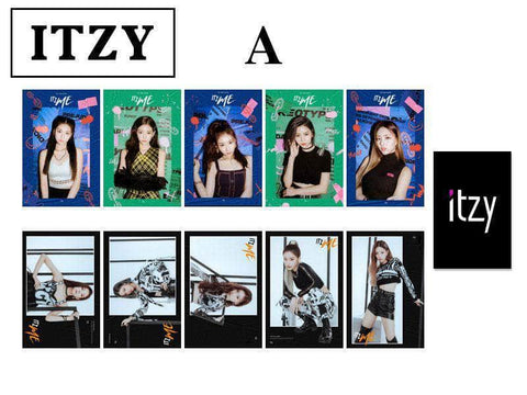 K-pop Fashion OFFICIAL ITZY IT'z ME Double sided Mini Card