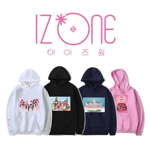 K-pop Fashion OFFICIAL IZ*ONE Printed Hoodie