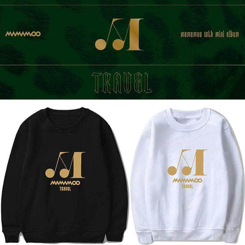 K-pop Fashion OFFICIAL MAMAMOO TRAVEL Round Neck Sweater