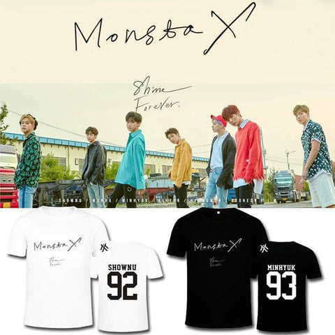 PartyPartyGo OFFICIAL MONSTA X SHINE FOREVER Album Printed T-shirt