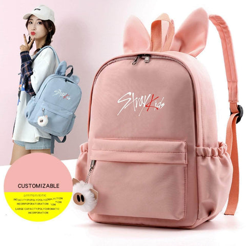 K-pop Fashion OFFICIAL Stray Kids Rabbit Ears Backpack
