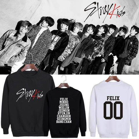 K-pop Fashion OFFICIAL Stray Kids Round Neck Sweater