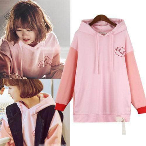 IDOLS FASHION HOODIE OFFICIAL STRONG WOMAN DO BONG SOON  PARK BO YOUNG PINK HOODIE