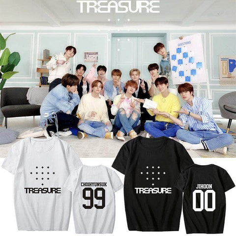 K-pop Fashion OFFICIAL TREASURE Album Black T shirt