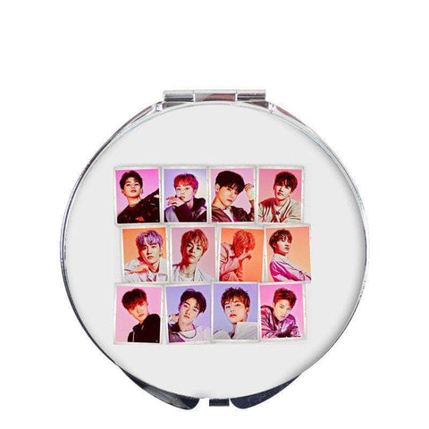 K-pop Fashion OFFICIAL TREASURE Folding Double sided Mirror
