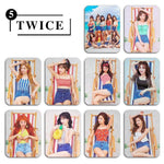 K-pop Fashion OFFICIAL TWICE 10 Sheets Crystal Stickers