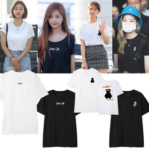 K-pop Fashion OFFICIAL TWICE Concert T shirt