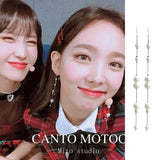 K-pop Fashion OFFICIAL TWICE Lim Na Yeon Long earrings
