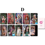K-pop Fashion OFFICIAL TWICE MORE&MORE Double sided MINI CARD