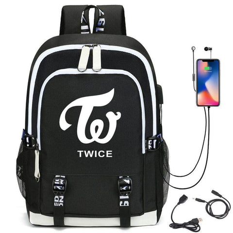 K-pop Fashion OFFICIAL TWICE Printed Nylon Backpack