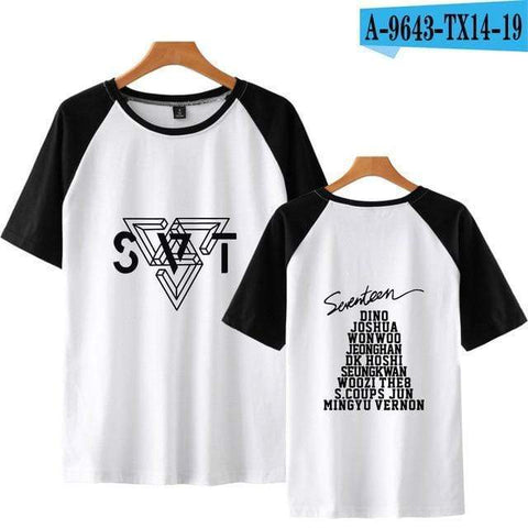 Kpop Merchandise Online Clothing SEVENTEEN Short Sleeve Shirt for Summer
